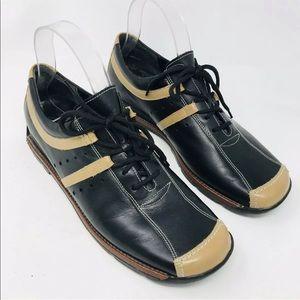 Rieker Leather Sneakers Black Brown Walking Shoes